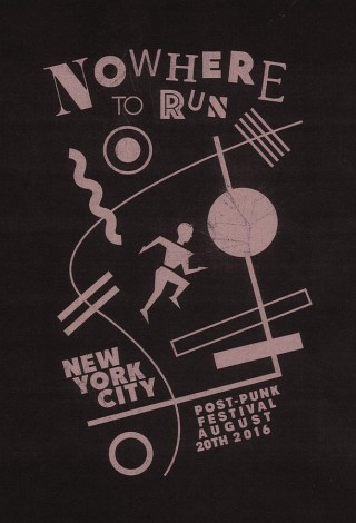 Jonathan Sirit, T-Shirt design for the Nowhere to Run Festival in N.Y.C. on August 20th