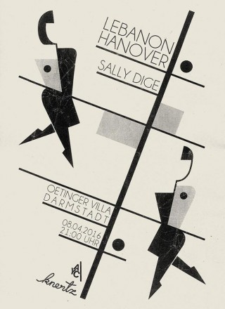 Jonathan Sirit, Poster for the Lebanon Hanover and Sally Dige show in Darmstadt