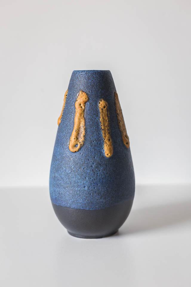 unikatowy niemiecki dzbanek ceramiczny Ruscha z lat 60. projekt Kurt Tschörner