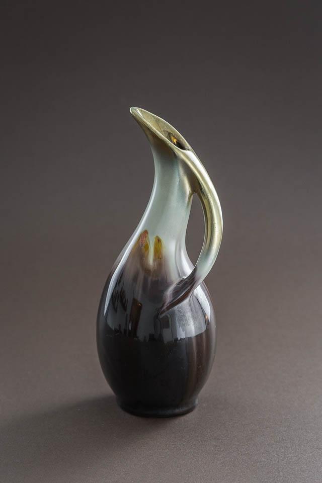 r?cznie malowany wazonik ? niemiecka ceramika lat 60.