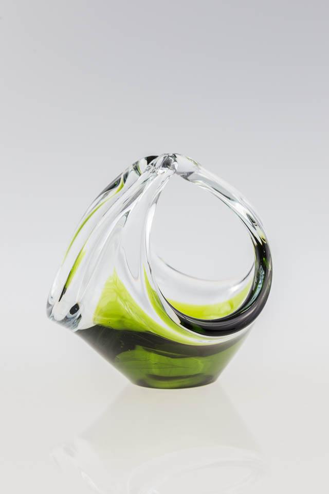 szk?o Murano ? r?cznie formowany szklany koszyczek Murano