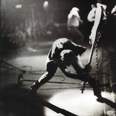Paul Simonon, the Clash bassist crashes his guitar