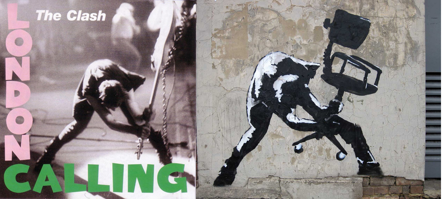 "okładka ""London Calling"" The Clash, Banksy"