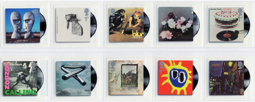 Post stamps series 'Classic Album Covers', 2010