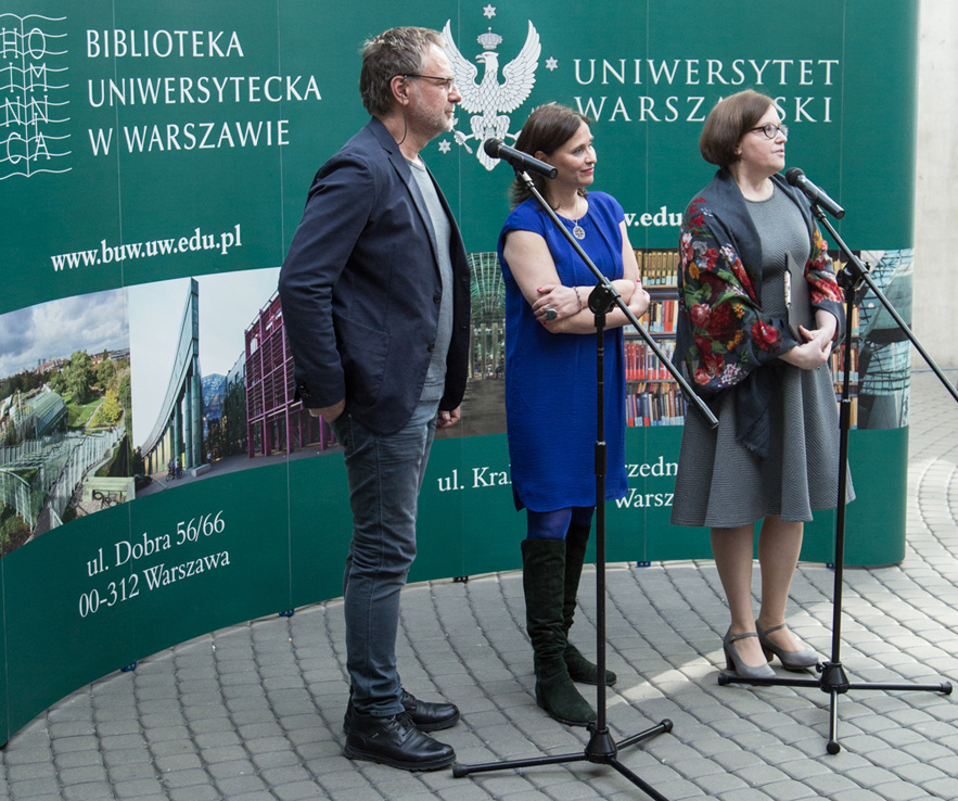 Michał Batory and BArbara Stępień - opening of the exhibition