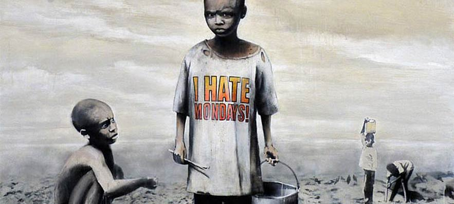 "Banksy, ""I Hate Mondays!"""