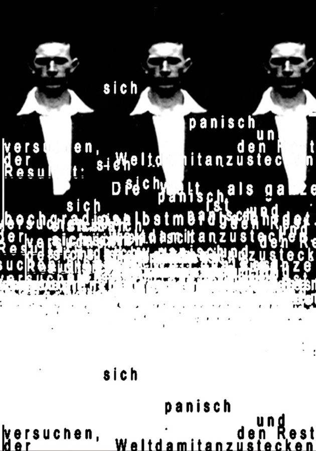 Anna Klos, sich panisch, collage