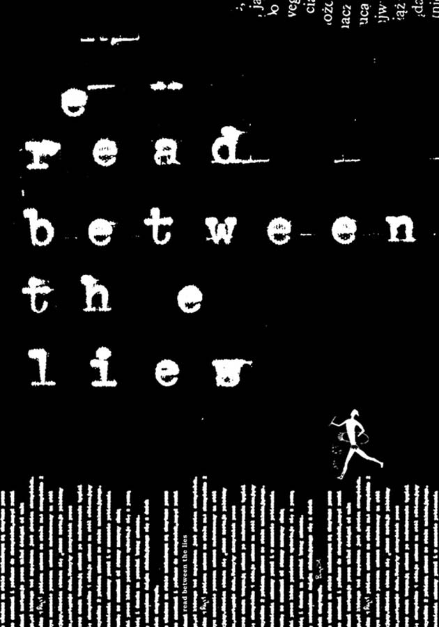 Anna Klos, Read between the lies, collage