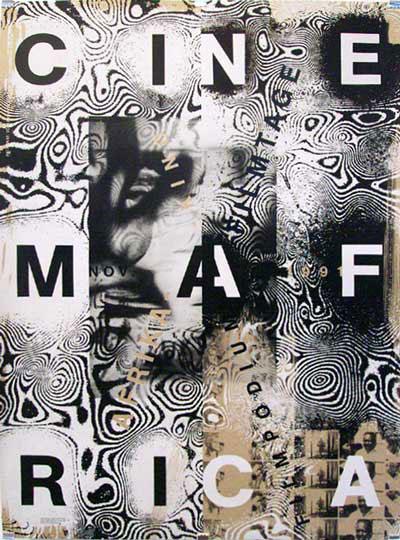 """Ralph Schraivogel – """"Cinema Africa"""" – plakat"""