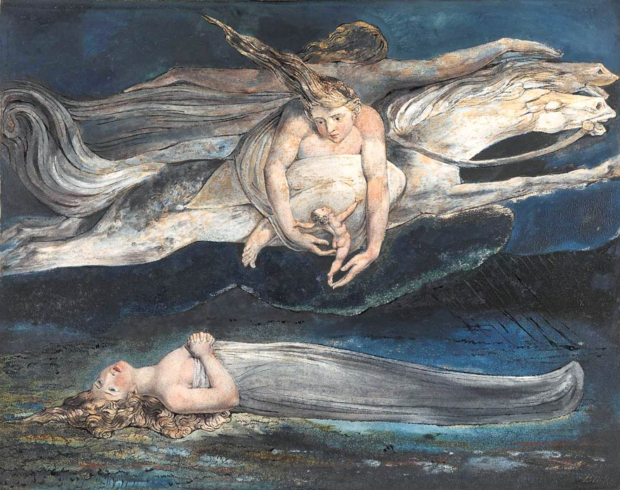 "William Blake - ""Pity"" ca. 1795"
