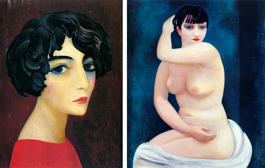 Portrait of a Dark-haired Woman, 1918; Kiki de Montparnasse, 1927