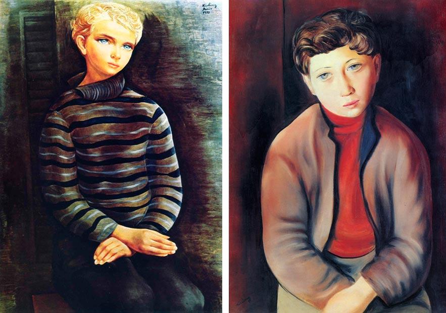 Young Blond Boy, 1937; Young Breton Man, 1931