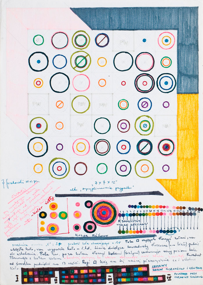 Jerzy Grabowski – Discipline of a Chance, drawing with a felt-tip pen on paper, 1971