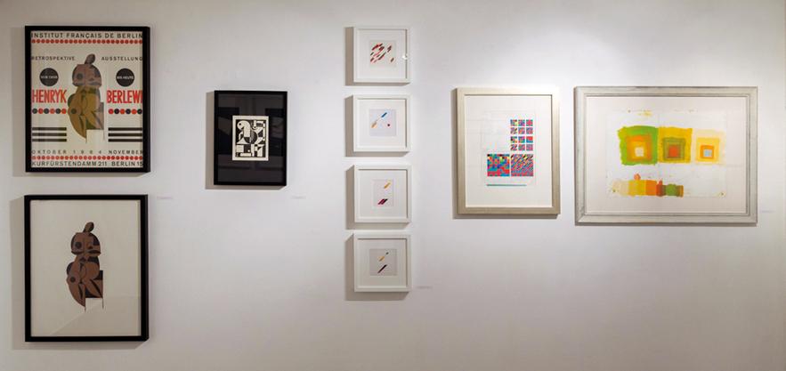 Retroavangarda and Korekta Gallery collection exhibition From the left: Berlewi, Peeters, Grabowski, Albers
