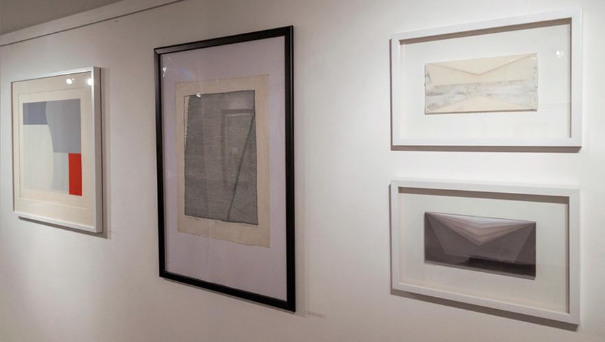 Retroavangarda and Korekta Gallery collection exhibition From the left: Stażewski, Fijałkowski, Mlącki